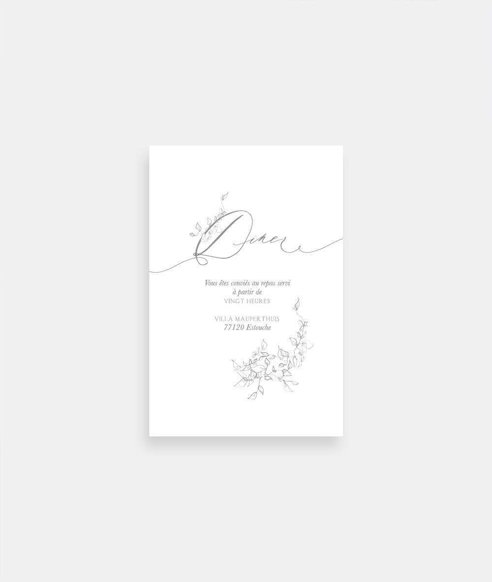 invitation de mariage fleuri